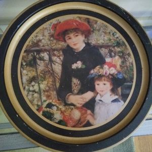 Decorative tin plate or tray 12.5 inch Renoir